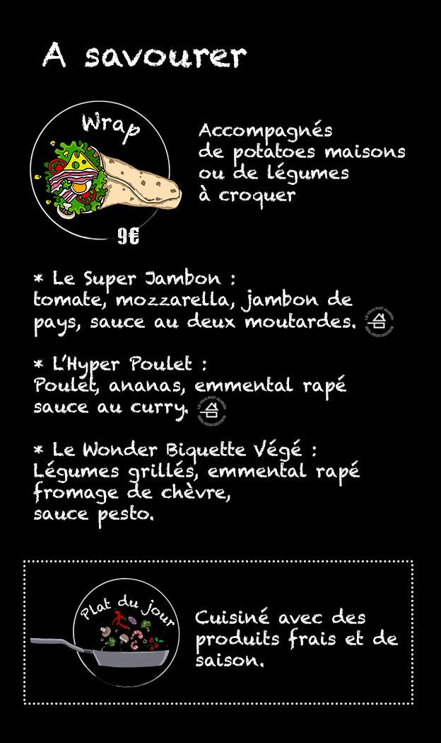 Première page du menu